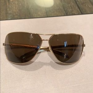 Chanel leather trim sunglasses